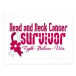 Cinta de la flor del superviviente del cáncer de c postal