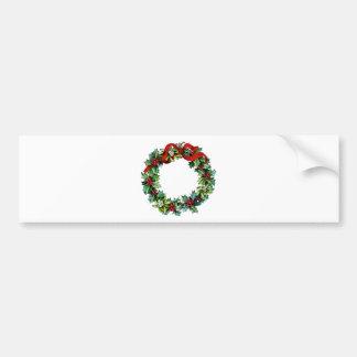Cinta de la guirnalda w red del navidad del acebo pegatina de parachoque
