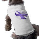 Cinta de la lavanda - superviviente del cáncer ropa para mascota