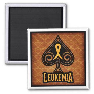 Cinta de la leucemia - imán - edición de las espad