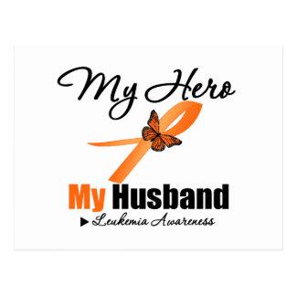 Cinta de la leucemia mi HÉROE mi marido Postal