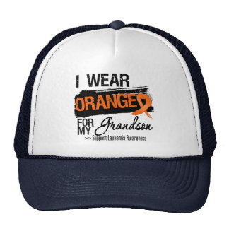 Cinta de la leucemia para mi nieto gorras
