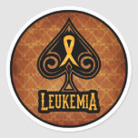 Cinta de la leucemia - pegatina fijado - edición