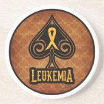 Cinta de la leucemia - práctico de costa de la pie posavasos diseño