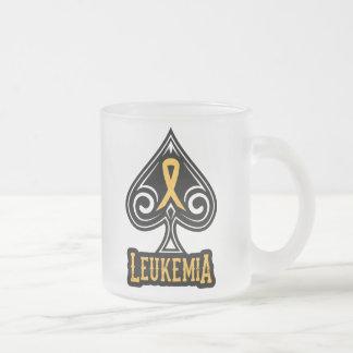 Cinta de la leucemia - taza helada - edición de la