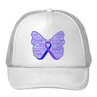 Cinta de la mariposa de la artritis reumatoide gorras