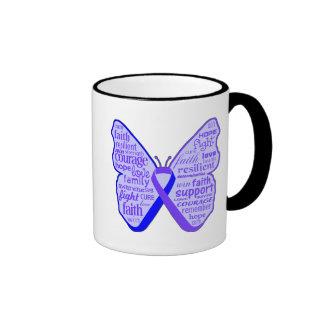 Cinta de la mariposa de la artritis reumatoide taza de café