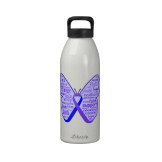 Cinta de la mariposa de la artritis reumatoide botallas de agua