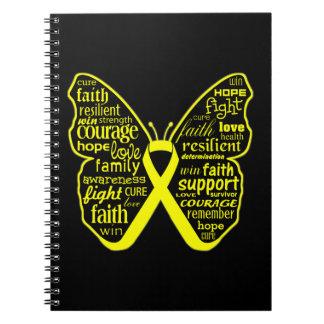 Cinta de la mariposa de la conciencia de la endome libretas espirales