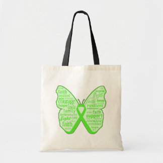 Cinta de la mariposa de la conciencia de la enferm bolsas