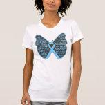 Cinta de la mariposa de la conciencia de la enferm camiseta