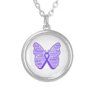 Cinta de la mariposa de la conciencia de la epilep pendientes