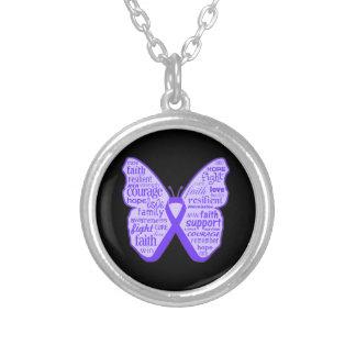Cinta de la mariposa de la conciencia de la fibros colgantes