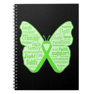Cinta de la mariposa de la conciencia de la notebook