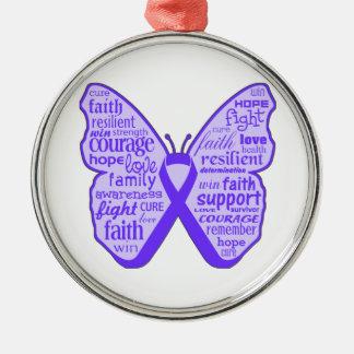Cinta de la mariposa de la conciencia del lupus ornamento para arbol de navidad