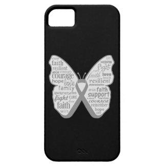Cinta de la mariposa de la enfermedad de iPhone 5 fundas