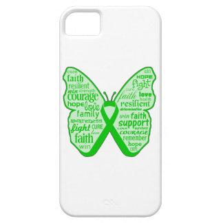 Cinta de la mariposa de la enfermedad de riñón iPhone 5 protectores
