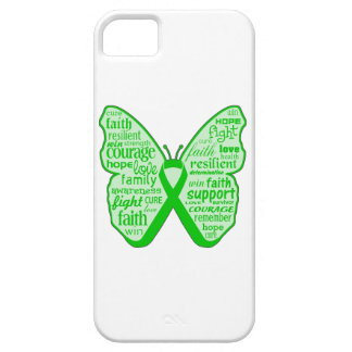 Cinta de la mariposa de la enfermedad de riñón funda para iPhone SE/5/5s
