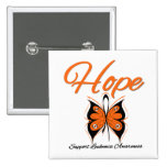 Cinta de la mariposa de la esperanza de la leucemi pin