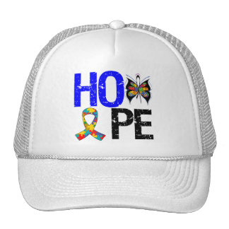 Cinta de la mariposa de la esperanza del autismo gorra