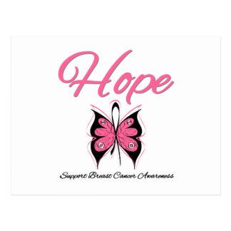 Cinta de la mariposa de la esperanza del cáncer de tarjetas postales