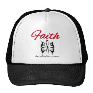 Cinta de la mariposa de la fe del cáncer de hueso gorros bordados