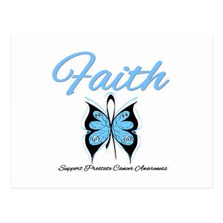 Cinta de la mariposa de la fe del cáncer de prósta postales