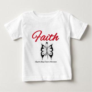 Cinta de la mariposa de la fe del cáncer de pulmón camisas