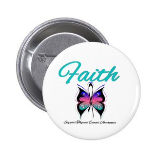 Cinta de la mariposa de la fe del cáncer de tiroid pin