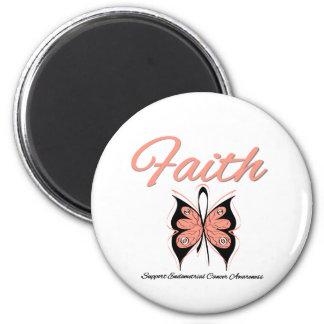 Cinta de la mariposa de la fe del cáncer endometri imán de frigorifico