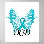 Cinta de la mariposa de OCD Posters