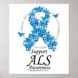 Cinta de la mariposa del ALS Poster