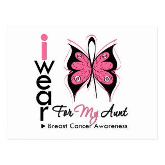 Cinta de la mariposa del cáncer de pecho para mi postal