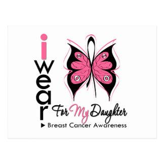 Cinta de la mariposa del cáncer de pecho para mi tarjeta postal
