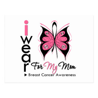 Cinta de la mariposa del cáncer de pecho para mi postales