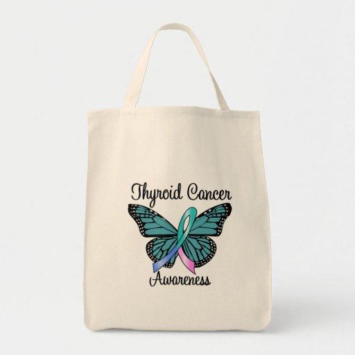 Cinta de la mariposa del cáncer de tiroides bolsa