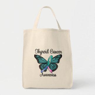 Cinta de la mariposa del cáncer de tiroides bolsa tela para la compra