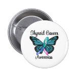 Cinta de la mariposa del cáncer de tiroides pin