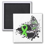 Cinta de la mariposa del linfoma no-Hodgkin de la  Imanes