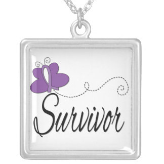 Cinta de la mariposa del superviviente de la epile joyerias personalizadas