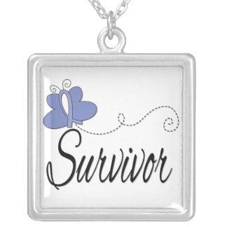 Cinta de la mariposa del superviviente del cáncer  collar personalizado
