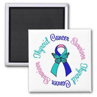Cinta de la mariposa del superviviente del cáncer  iman para frigorífico