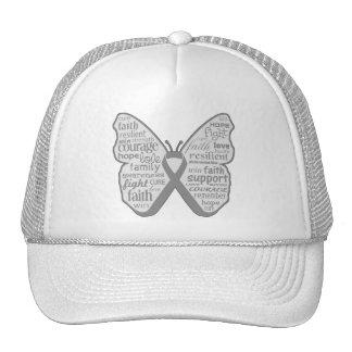 Cinta de la mariposa del tumor cerebral gorra