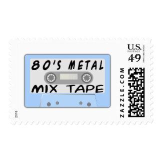 cinta de la mezcla 80s estampilla