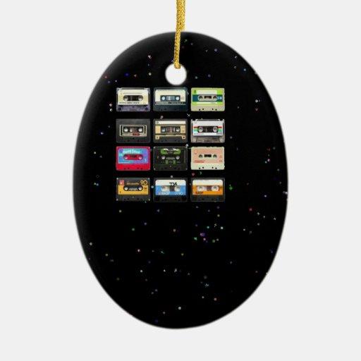 cinta de la mezcla a partir de los años 80 ornaments para arbol de navidad