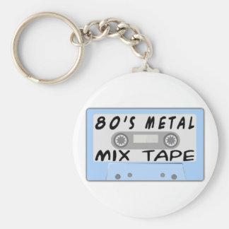 cinta de la mezcla del metal 80s llaveros personalizados