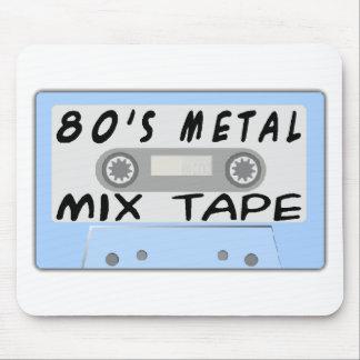 cinta de la mezcla del metal 80s alfombrillas de ratón