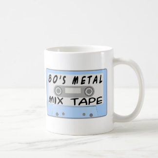 cinta de la mezcla del metal 80s taza de café