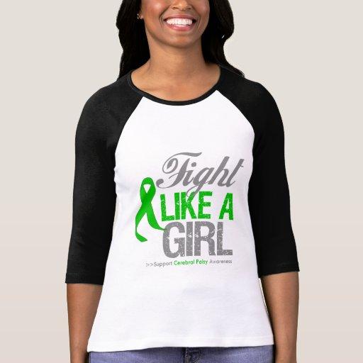 Cinta de la parálisis cerebral - lucha como un camiseta