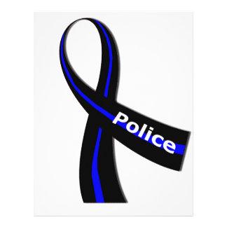 Cinta de la policía plantilla de membrete
